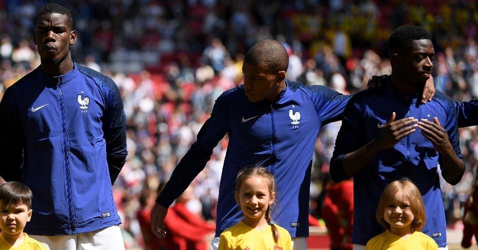 França chega para sua estreia no Mundial com uma excelente equipe, com Griezmann, Pogba, Mbappé, Dembelé, entre outros