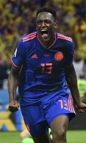 Yerry Mina fez o primeiro gol da Colômbia em vitória contra a Polônia