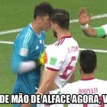 """Eis que, no segundo tempo, o goleiro do Irã defendeu um pênalti do """"Penaldo"""" - Reprodução/Twitter"""