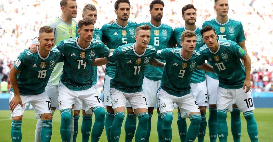 Seleção da Alemanha foi a campo com seu uniforme reserva para duelo contra time sul-coreano