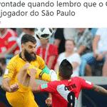 Cueva deu uma assistência na vitória do Peru, mas já está de malas prontas para voltar ao São Paulo - Reprodução/Twitter