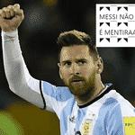 Messi finalmente fez um gol nesta Copa e a Argentina se classificou no sufoco contra a Nigéria - Reprodução/Twitter