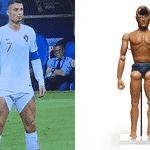 Cristiano Ronaldo ergueu as barras do short e mostrou toda sua musculatura - Reprodução/Twitter