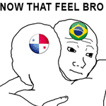 A torcida brasileira ficou com vontade de dar um abraço nos jogadores do Panamá - Reprodução/Twitter