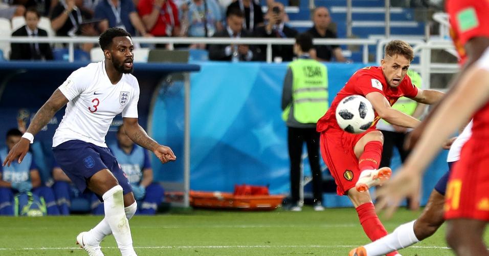 Adnan Januzaj abre o placar para a Bélgica contra a Inglaterra