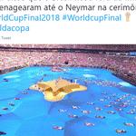 Pelo menos a torcida brasileira se sentiu representada no palco da decisão - Reprodução/Twitter