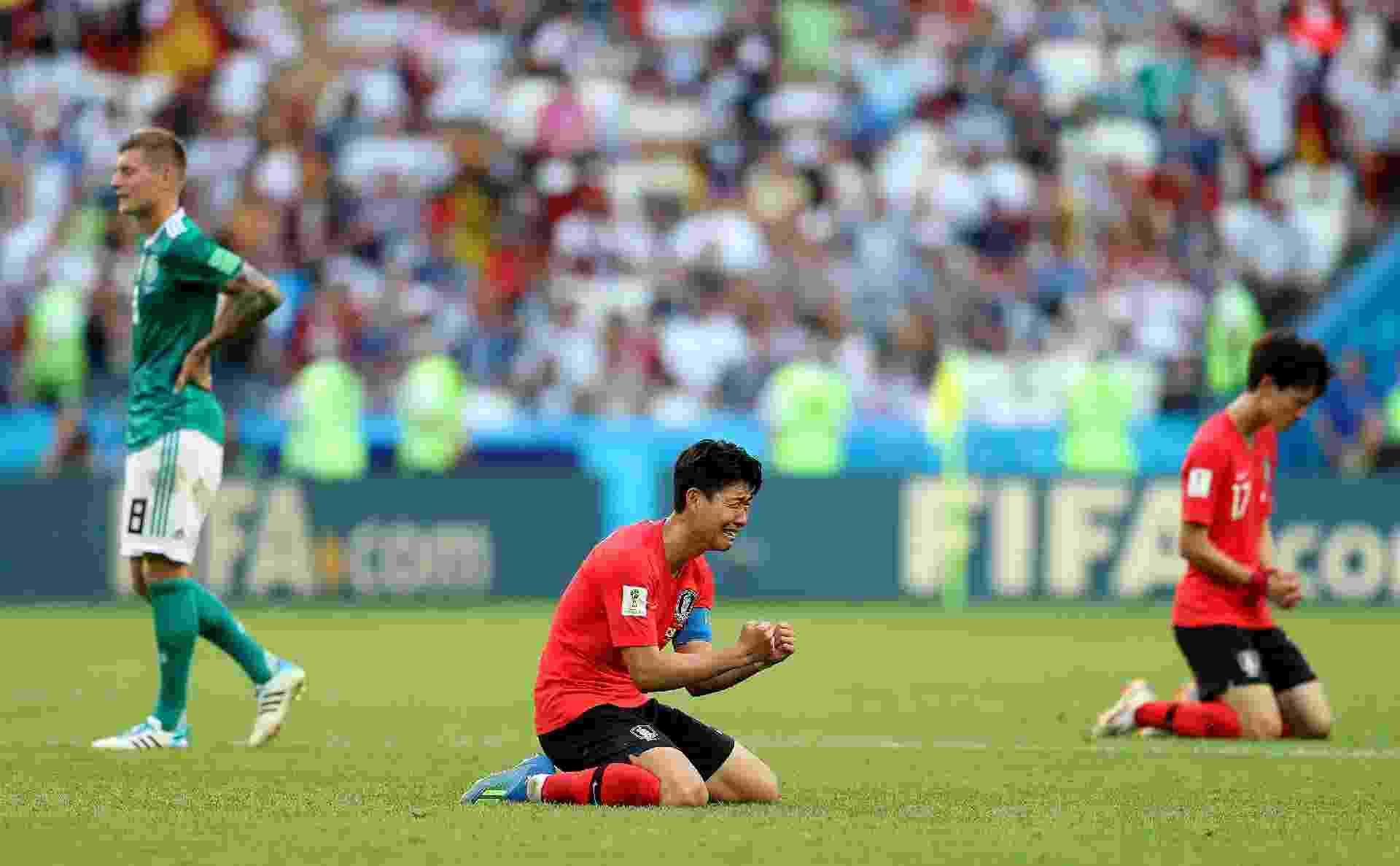 Son Heung-Min chora após vitória da Coreia do Sul contra a Alemanha - Getty Images
