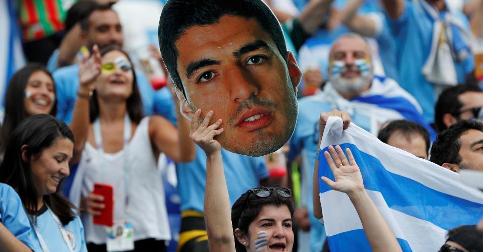 Torcida do Uruguai confia em Suárez para a partida contra a França, em Nizhny Novgorod