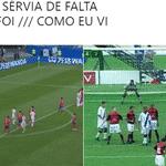 A Sérvia venceu a Costa Rica com um golaço de falta, e os flamenguistas tiveram boas lembranças com este jogo - Reprodução/Twitter