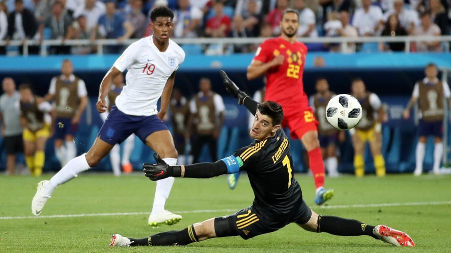 """""""Não me sinto capaz de jogar para empatar"""", assegurou goleiro da Bélgica sobre jogo contra a Inglaterra - Marko Djurica/Reuters"""