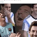 Os fãs de Messi ficaram assim depois do pênalti perdido por Cristiano Ronaldo - Reprodução/Twitter