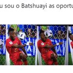 A Bélgica venceu a Inglaterra por 1 a 0 com um gol de Januzaj, mas quem brilhou na comemoração foi o Batshuayi - Reprodução/Twitter