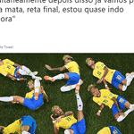 O meme das quedas do Neymar nunca fez tanto sentido para os viciados em Copa - Reprodução/Twitter
