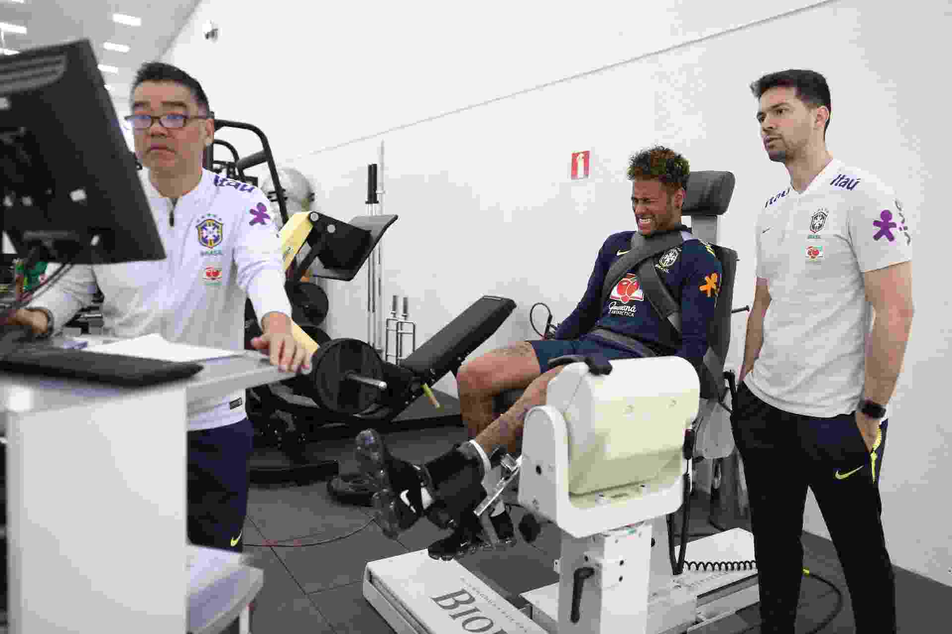 Neymar passa por teste físico na Granja Comary - Lucas Figueiredo/CBF