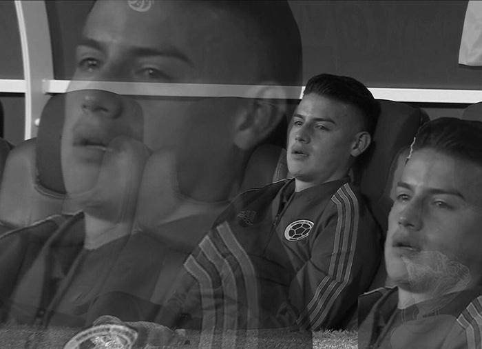 Meme James Rodriguez chorando