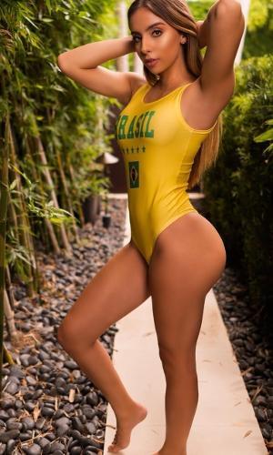"""""""As brasileiras são as melhores"""", escreveu Bruna Rangel Lima em uma foto postada no Instagram"""