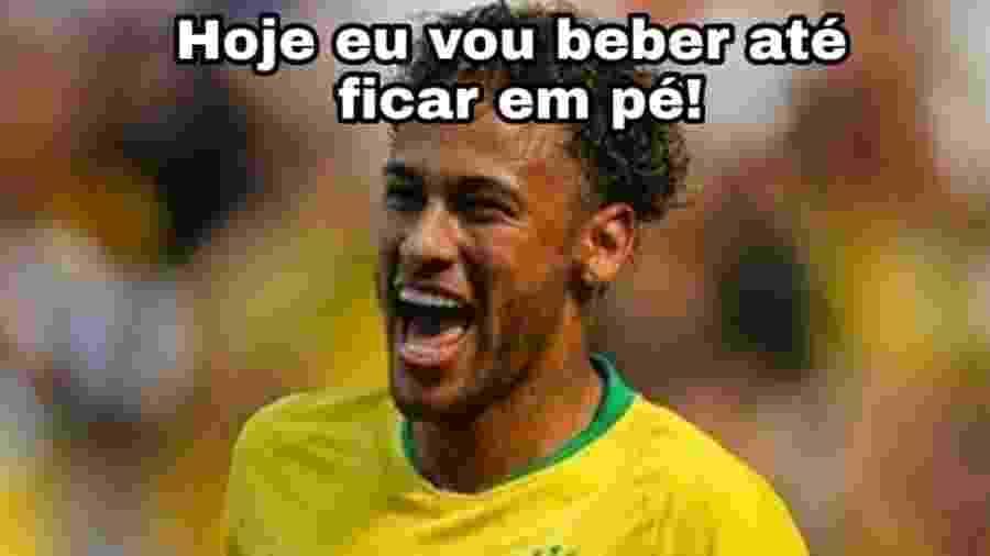 No dia em que Alemanha e Sérvia caíram, o Neymar ficou em pé e o Brasil teve todos os motivos para comemorar - Reprodução/Twitter