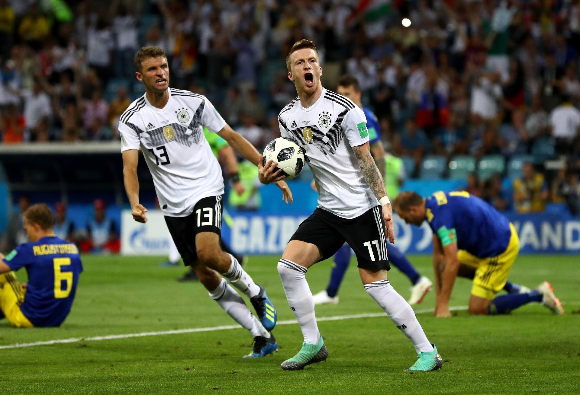 0d7eec5637 Alemanha x Suécia  Alemanha vira sobre a Suécia no último lance e ...
