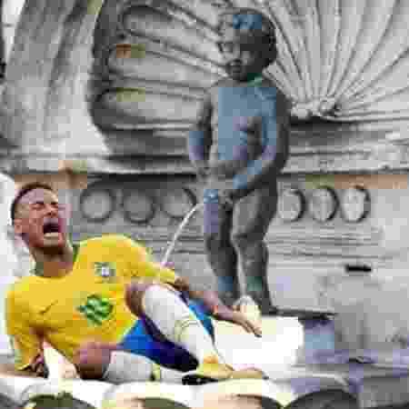 Neymar virou meme durante a Copa da Rússia por suas constantes quedas em campo - Reprodução/Twitter - Reprodução/Twitter