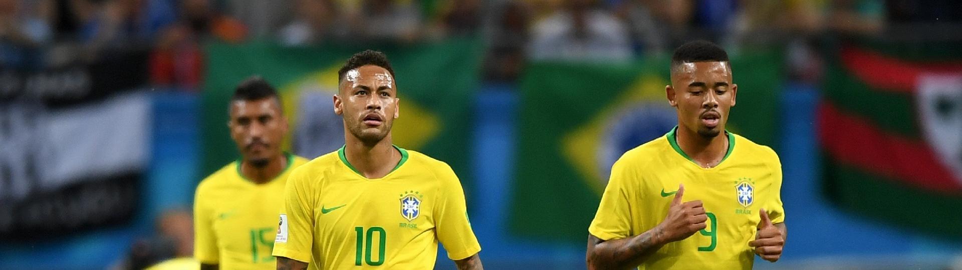 Neymar e Gabriel Jesus lamentam gol da Bélgica contra o Brasil