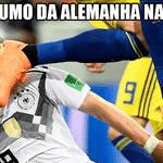 Com o empate de 0 a 0 contra a Coreia do Sul, a Alemanha estava se classificando. Mas aí a Suécia fez um gol contra o México e ultrapassou os alemães na classificação do grupo. Começava o sufoco - Reprodução/Twitter
