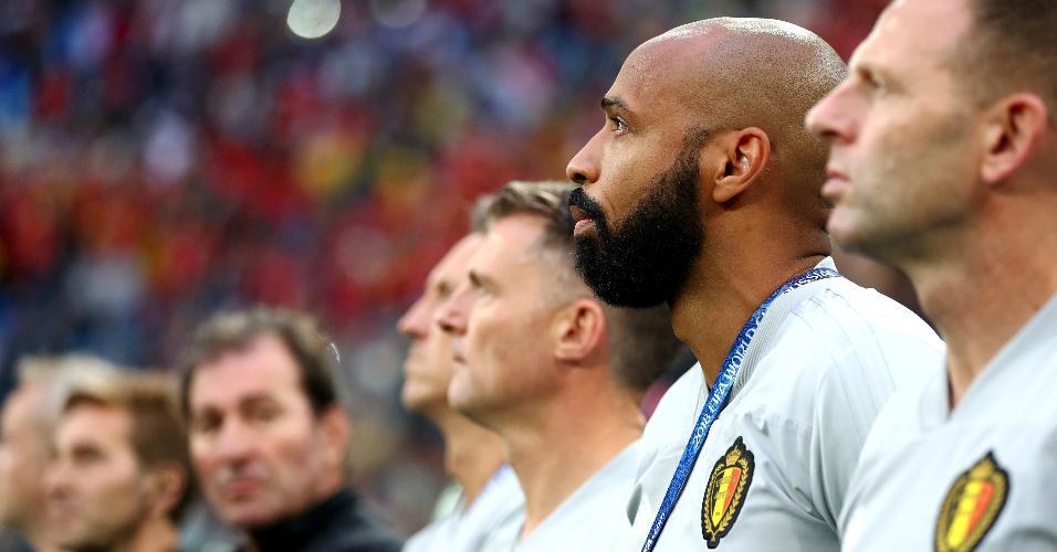 Thierry Henry durante partida entre França e Bélgica