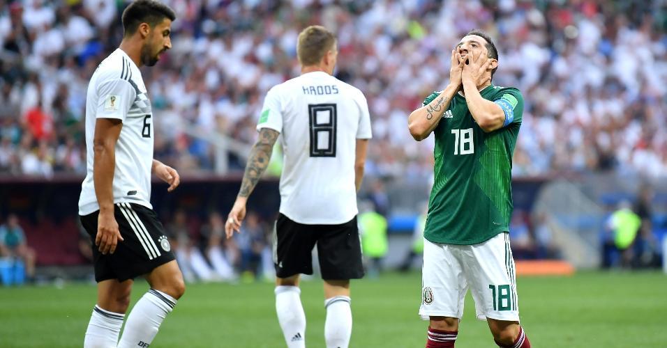 Andres Guardado lamenta após perder chance para a seleção do México