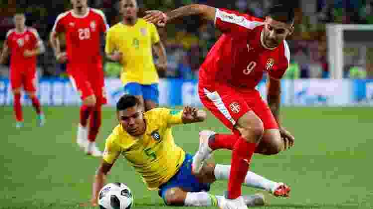 Casemiro foi líder em quantidade de disputas mano a mano vencidas contra os sérvios - Axel Schmidt/Reuters - Axel Schmidt/Reuters