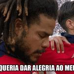 A emoção deles no hino nacional foi recompensada pelo primeiro gol do Panamá na históiria das Copas - Reprodução/Twitter