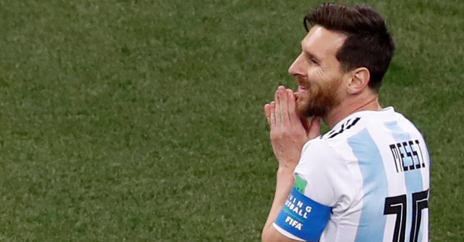 Lionel Messi lamenta chance perdida pela Argentina em jogo contra a Croácia