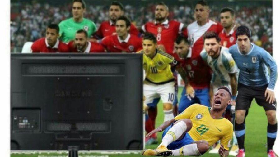 Neymar é mais um sul-americano que vai ver o resto da Copa pela TV