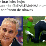 Até o gol de Kroos nos acréscimos, era só alegria: os brasileiros já preparavam os memes para rir da Alemanha eliminada - Reprodução/Twitter