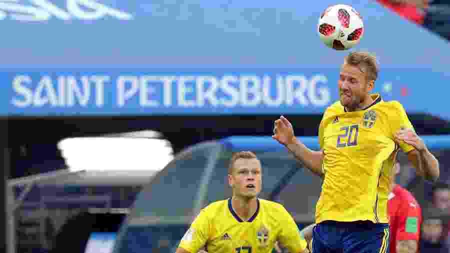 """""""Talvez possamos fazer história também"""", disse atacante após classificação da Suécia às quartas de final - GEORGI LICOVSKI/EFE"""