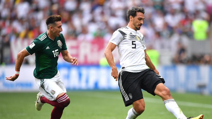 Hummels durante duelo contra o México na primeira rodada da Copa do Mundo - Hector Vivas/Getty Images