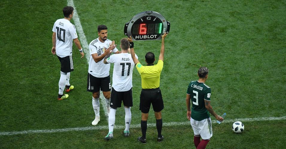 Substituição na Alemanha: Sami Khedira sai para a entrada da Marco Reus