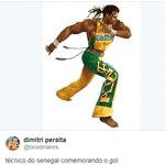 Cissé comemorou demais a primeira vitória africana na Copa - Reprodução/Twitter
