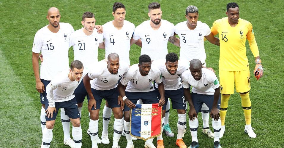 Formação da seleção francesa para jogo desta terça
