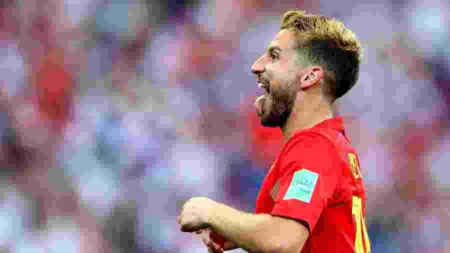 Dries Mertens celebra após marcar para a seleção da Bélgica contra o Panamá - Richard Heathcote/Getty Images