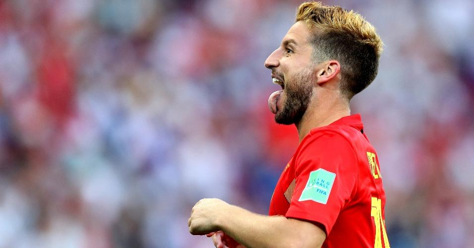 Dries Mertens celebra após marcar para a seleção da Bélgica contra o Panamá