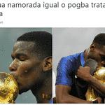 """""""Trate sua namorada como o Pogba trata a taça"""" - Reprodução/Twitter"""