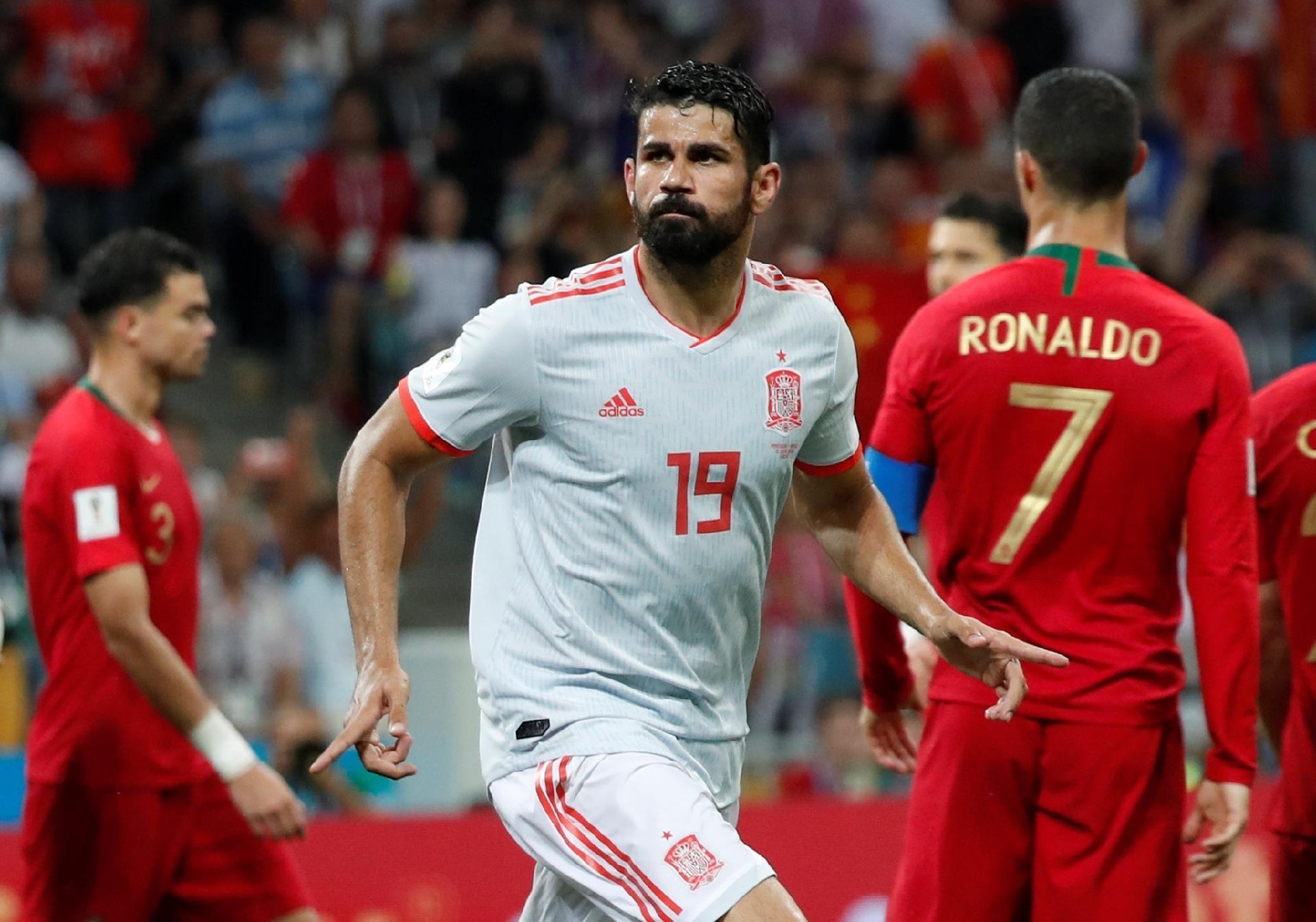 97120c5852 Espanha na Copa 2018  Diego Costa se torna artilheiro