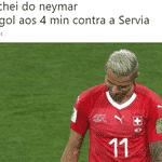 No começo até deu certo, mas a Suíça virou o jogo e empatou com o Brasil em pontos - Reprodução/Twitter