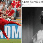 Carrillo marcou o primeiro gol do Peru na Copa: por sinal, um golaço - Reprodução/Twitter