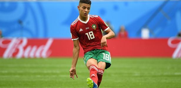 Amine Harit defendeu a seleção de Marrocos na Copa do Mundo - AFP PHOTO / Paul ELLIS