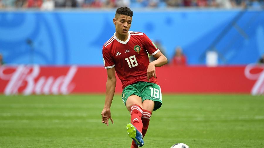 Amine Harit, do Marrocos, durante jogo contra o Irã - AFP PHOTO / Paul ELLIS