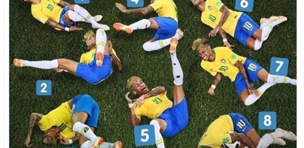 Neymar se tornou um meme global durante a Copa do Mundo da Rússia - Reprodução/Twitter