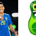 Depois do pisão do Alisson, o tombo do Tite e as quedas do Neymar, chegou a vez do sorriso do Firmino - Reprodução/Twitter