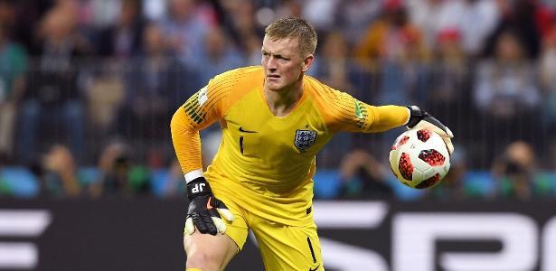 Titular da seleção da Inglaterra na Rússia, Jordan Pickford defende o Everton/ING - Mike Hewitt - FIFA/FIFA via Getty Images