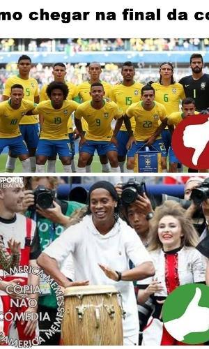 O Brasil marcou presença na final da Copa da melhor maneira possível