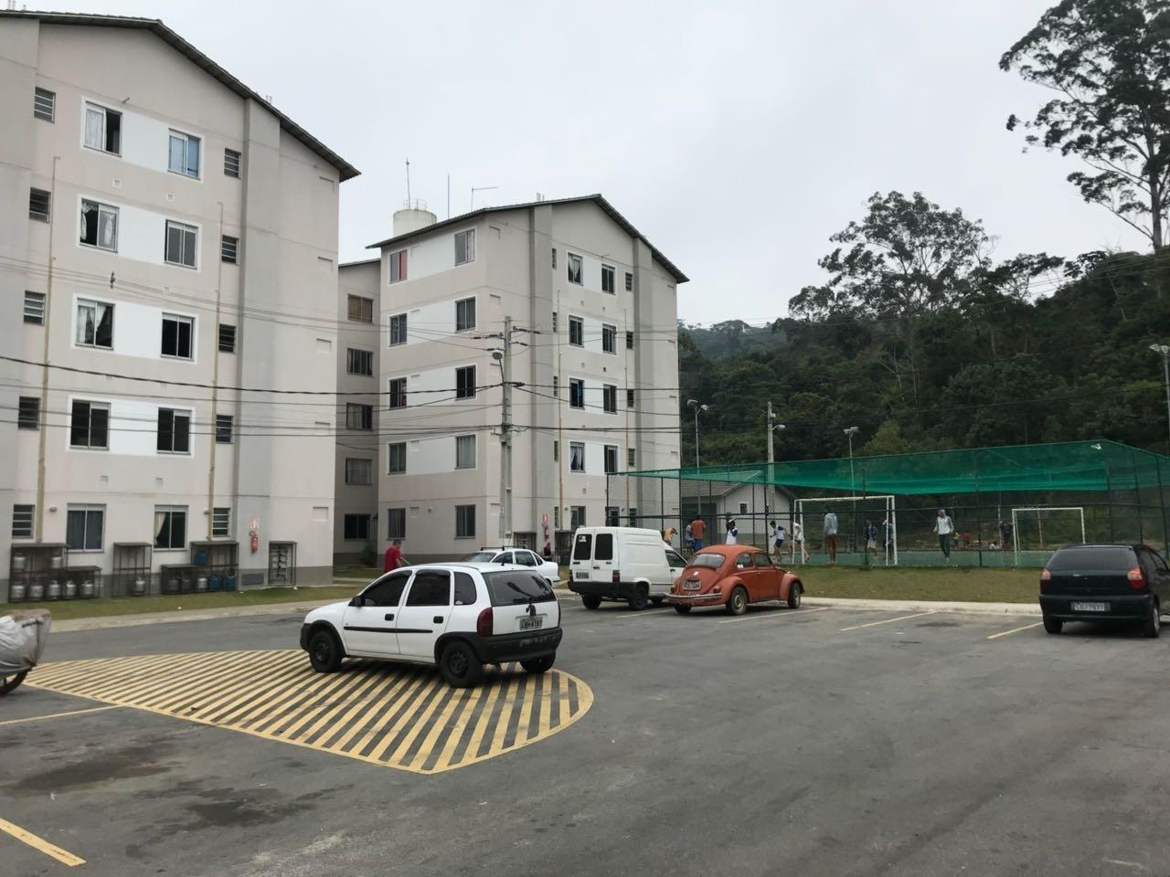 Área interna do condomínio construído patas as vítimas das chuvas de Teresópolis